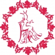 Seated Queen Florals - Logo