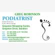 Greg Robinson Podiatrist - Laser Nail Clinic - Logo