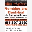 HRM Plumbing & Electrical - Logo