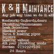 K & H Maintenance - Logo