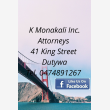 K MONAKALI INC ATTORNEYS  - Logo
