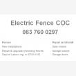 Electric Fence COC Pretoria - Logo