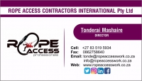 Rope Access Contractors International (Pty) Ltd  - Logo