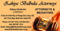 ZAKIYA BULBULIA ATTORNEYS - Logo