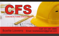 Concrete Form Structures (Pty) Ltd - Logo