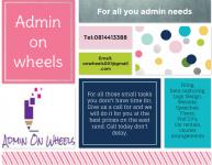 Admin On wheels - Logo