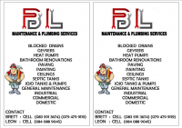 B &  L  AND PLUMBING SERVICES - Logo