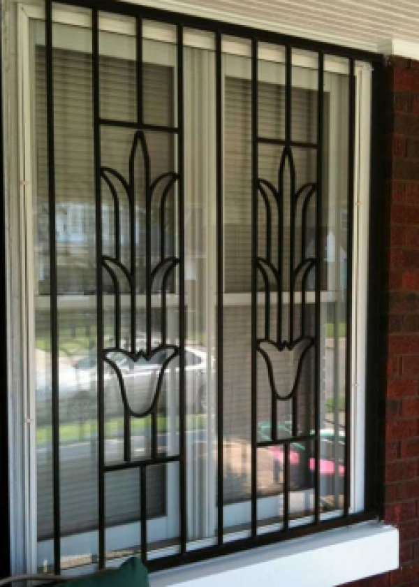 Cape town security gates safety and security home for Window bars design